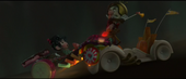 King Candy attacking Vanellope