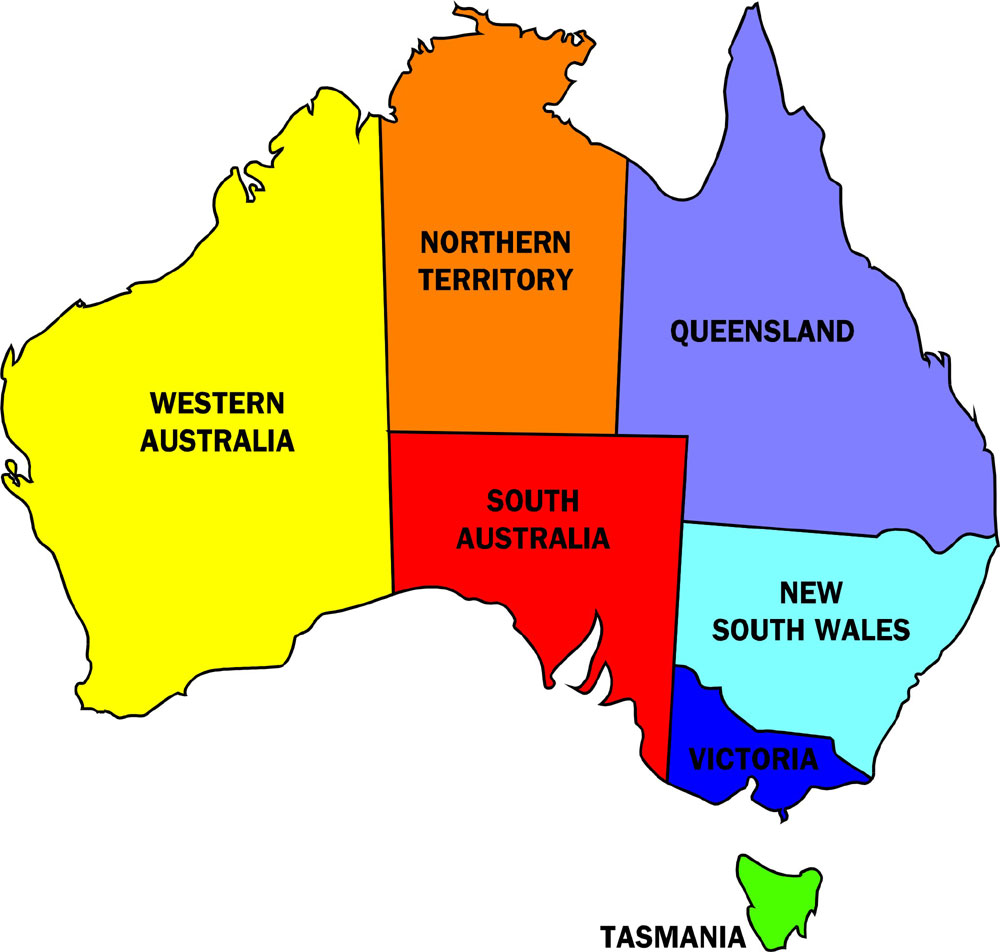 Maps Update 800670 Australian States and Cities Map Cities in – Map States Australia