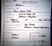 Eugene Victor Tooms 1903 census