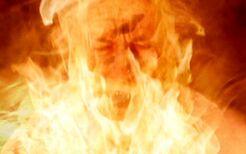 Cigarette Smoking Man burning