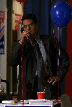 Jock Busfield on the phone