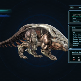 The Callow Grex index in-game