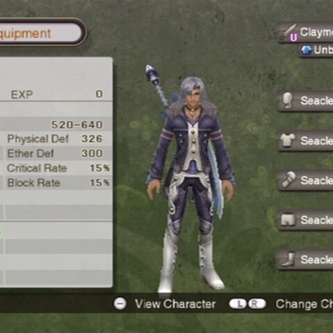 Alvis' status and equipment in Makna Forest