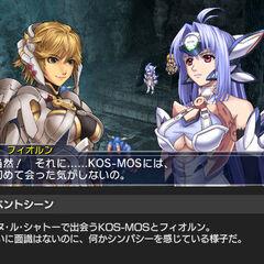 Fiora fighting screenshot in <i>Project X Zone 2</i>