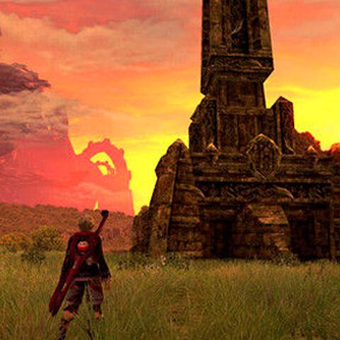 Kamos Guidepost at sunset