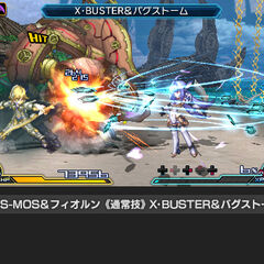 Fiora fighting screenshot in <i>Project X Zone 2</i>
