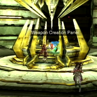 The Weapon Creation Panel that activates the machine