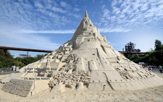 Sandcastle world record attempt