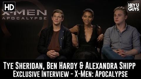 Tye Sheridan, Ben Hardy & Alexandra Shipp Exclusive Interview - X-Men Apocalypse
