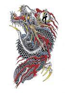 Kazuma Kiryu ouryu tattoo complete design