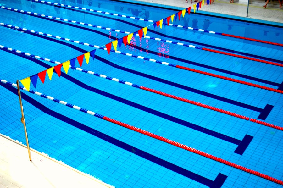 Perfect Swimming Pool Lane Lines Background Competition Line