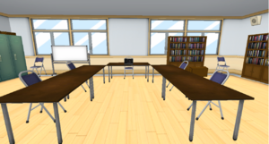 Student Council Room with New Megami