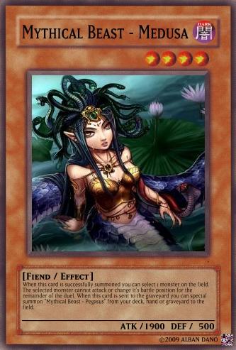 Mythical Beast - Medusa | Yu-Gi-Oh Card Maker Wiki