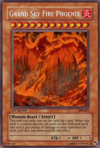 Grand Sky Fire Phoenix | Yu-Gi-Oh Card Maker Wiki | Fandom ...
