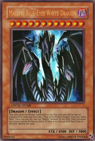 Malefic Blue-Eyes Ultimate Dragon | Yu-Gi-Oh Card Maker ...