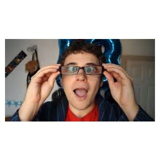 Dan discovering that putting his glasses further away from his face, magnifies it.