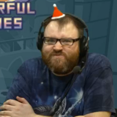 Angry Simon with his miniature Christmas hat.