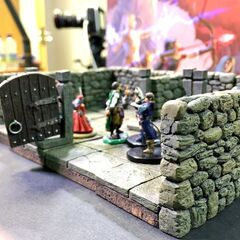 Sometimes 3D dungeon map pieces are used too. Session 6 is the first usage of the map pieces.