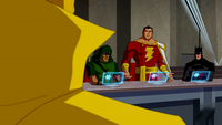 Captain Marvel challenges Doctor Fate