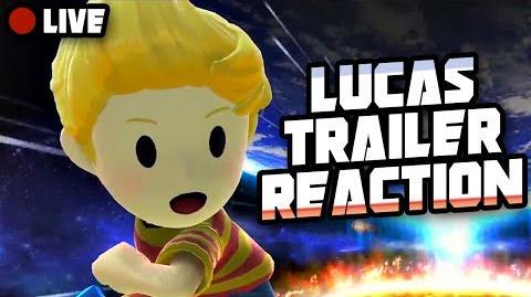 LUCAS CONFIRMED!! Trailer Live Reaction ft. JayYTGamer & Twit! (Super Smash Bros