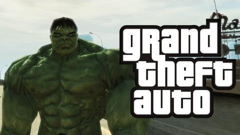 GTA 4 Hulk in GTA! - (Hulk Mod Funny Moments)