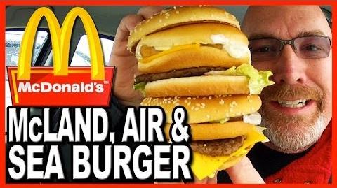 McDonald's ★ Secret Menu Item ★ The McLand, Air and Sea Burger Food Review
