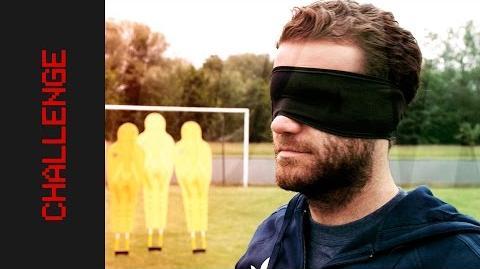 Blindfolded Free Kick Challenge Juan Mata