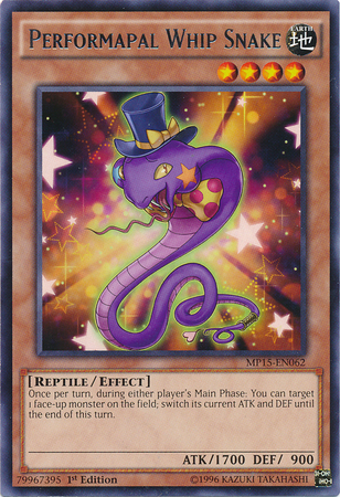 Performapal Whip Snake Yu Gi Oh Fandom Powered By Wikia