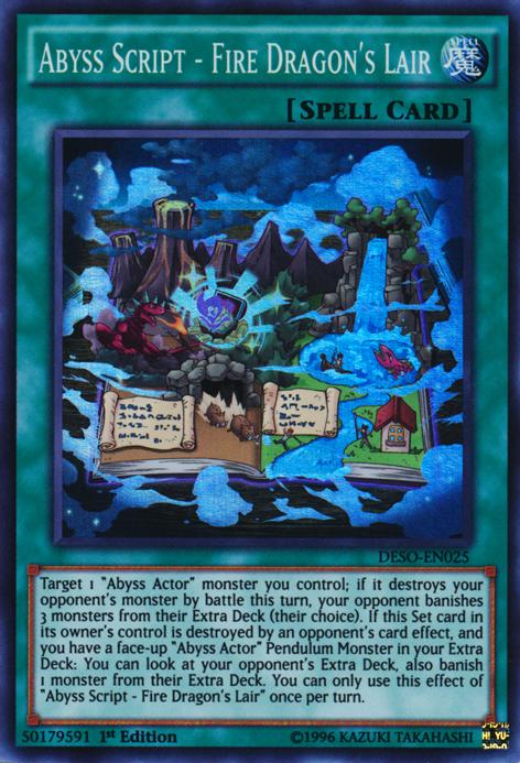 abyss script fire dragons lair yugioh fandom