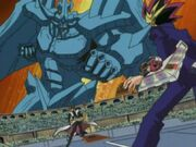 DM-131 Obelisk attacks Yugi