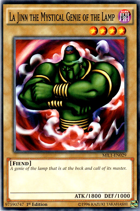La Jinn The Mystical Genie Of The Lamp Yu Gi Oh