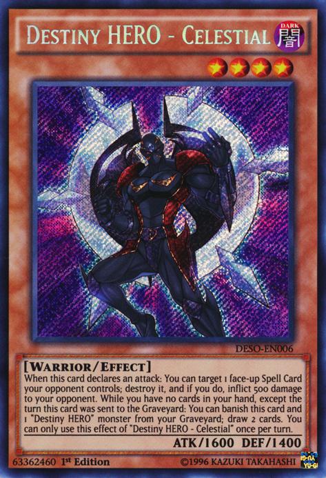 Destiny HERO - Celestial   Yu-Gi-Oh!   FANDOM powered by Wikia