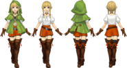 Hyrule Warriors Legends Artwork Linkle (Concept Art)