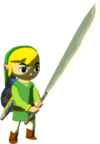 File:The Wind Waker Toon Link Sharp Machete (Render).png