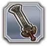 Hyrule Warriors Materials Large Darknut Sword (Silver Material)