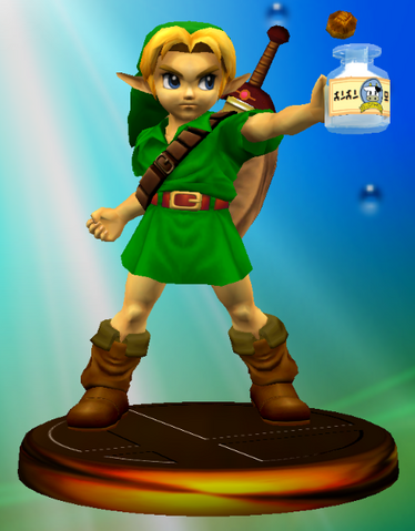 File:Young Link Adventure Trophy (Super Smash Bros. Melee).PNG