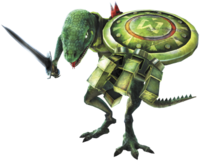 Hyrule Warriors Dragons Lizalfos (Render)