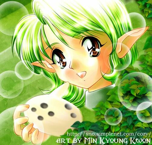 File:Bubbly Saria with her Ocarina-1.jpg