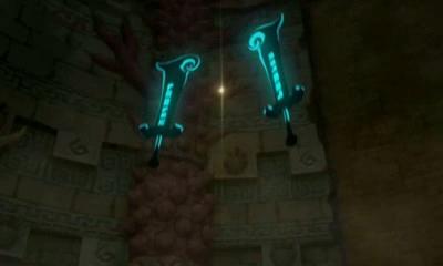 File:Hyrule Warriors Legends Wind Waker - Watchers of the Triforce Phantom Ganon's Swords (Cutscene).png