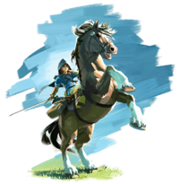 Link and Epona (Breath of the Wild)