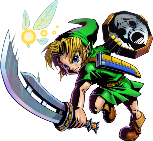 File:Majora's Mask 3D Link Razor Sword & Mirror Shield (Artwork).png