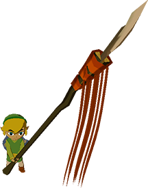File:The Wind Waker Toon Link Long Spear (Render).png