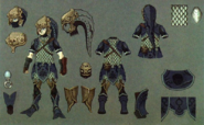 Twilight Princess Artwork Zora Armor (Concept Art - Hyrule Historia)
