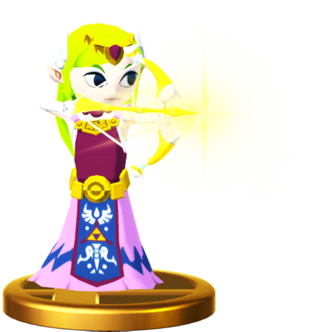 File:Super Smash Bros. for Wii U Princess Zelda (The Wind Waker) Toon Zelda (Trophy).png