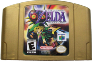The Legend of Zelda - Majora's Mask Gold Cartridge