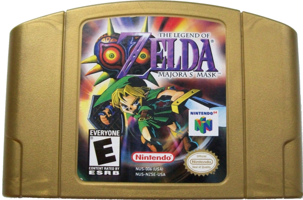 File:The Legend of Zelda - Majora's Mask Gold Cartridge.png