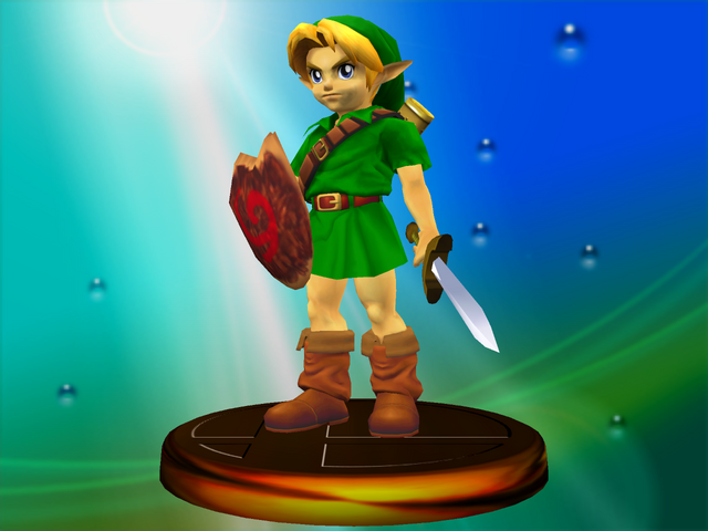 File:Young Link Classic Trophy (Super Smash Bros. Melee).PNG
