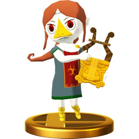 File:Super Smash Bros. for Wii U Sage of Earth Medli (The Wind Waker) Medli (Trophy).png