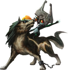 File:Twilight Princess HD Artwork Wolf Link & Midna (Offical Artwork).png