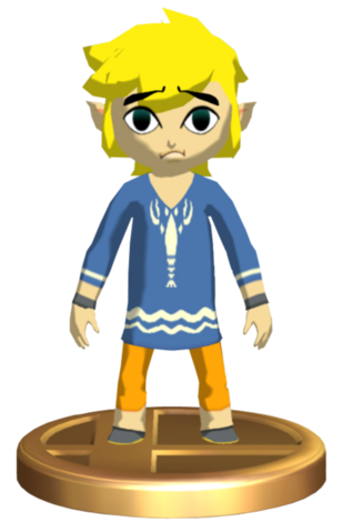 File:Super Smash Bros. Brawl Toon Link Outset Link (Trophy).png